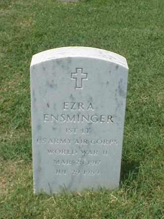 ENSMINGER (VETERAN WWII), EZRA - Pulaski County, Arkansas   EZRA ENSMINGER (VETERAN WWII) - Arkansas Gravestone Photos