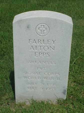 EPPS (VETERAN WWII), FARLEY ALTON - Pulaski County, Arkansas   FARLEY ALTON EPPS (VETERAN WWII) - Arkansas Gravestone Photos