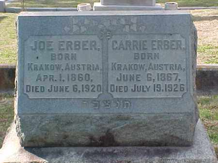 ERBER, CARRIE - Pulaski County, Arkansas | CARRIE ERBER - Arkansas Gravestone Photos