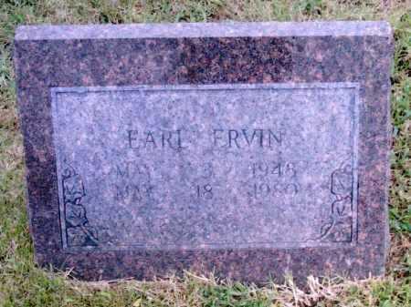 ERVIN, EARL - Pulaski County, Arkansas | EARL ERVIN - Arkansas Gravestone Photos