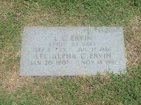 ERVIN, LEE APHA C - Pulaski County, Arkansas | LEE APHA C ERVIN - Arkansas Gravestone Photos