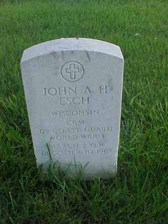 ESCH (VETERAN WWI), JOHN A H - Pulaski County, Arkansas | JOHN A H ESCH (VETERAN WWI) - Arkansas Gravestone Photos
