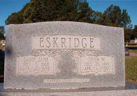 ESKRIDGE, SADIE JANE - Pulaski County, Arkansas | SADIE JANE ESKRIDGE - Arkansas Gravestone Photos