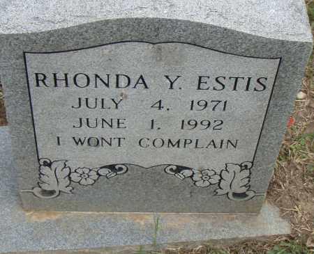 ESTIS, RHONDA Y. - Pulaski County, Arkansas | RHONDA Y. ESTIS - Arkansas Gravestone Photos