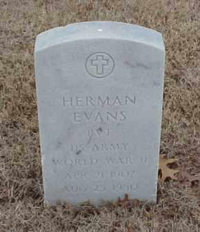 EVANS  (VETERAN WWII), HERMAN - Pulaski County, Arkansas   HERMAN EVANS  (VETERAN WWII) - Arkansas Gravestone Photos