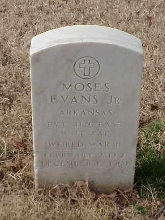 EVANS, JR (VETERAN WWII), MOSES - Pulaski County, Arkansas | MOSES EVANS, JR (VETERAN WWII) - Arkansas Gravestone Photos