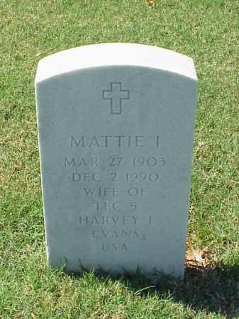 EVANS, MATTIE I - Pulaski County, Arkansas | MATTIE I EVANS - Arkansas Gravestone Photos