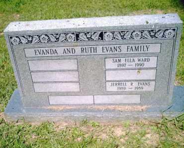 WARD EVANS, SAM ELLA - Pulaski County, Arkansas | SAM ELLA WARD EVANS - Arkansas Gravestone Photos