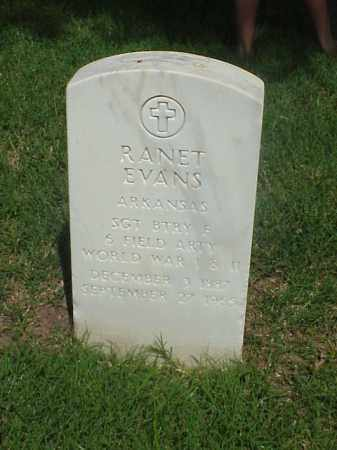 EVANS (VETERAN 2 WARS), RANET - Pulaski County, Arkansas | RANET EVANS (VETERAN 2 WARS) - Arkansas Gravestone Photos