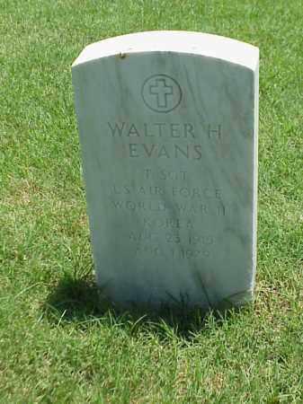 EVANS (VETERAN 2 WARS), WALTER H - Pulaski County, Arkansas   WALTER H EVANS (VETERAN 2 WARS) - Arkansas Gravestone Photos