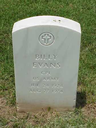 EVANS (VETERAN KOR), BILLY - Pulaski County, Arkansas | BILLY EVANS (VETERAN KOR) - Arkansas Gravestone Photos