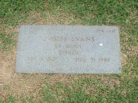 EVANS (VETERAN KOR), JAMES - Pulaski County, Arkansas | JAMES EVANS (VETERAN KOR) - Arkansas Gravestone Photos