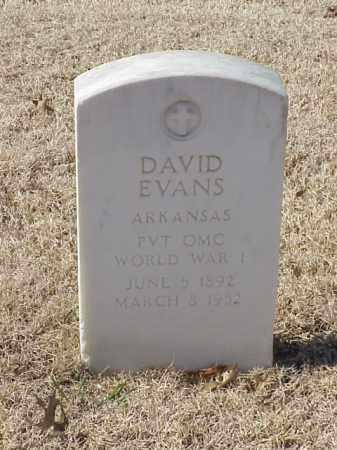 EVANS (VETERAN WWI), DAVID - Pulaski County, Arkansas | DAVID EVANS (VETERAN WWI) - Arkansas Gravestone Photos