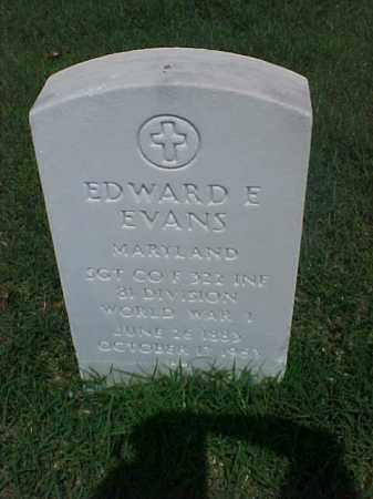 EVANS (VETERAN WWI), EDWARD E - Pulaski County, Arkansas   EDWARD E EVANS (VETERAN WWI) - Arkansas Gravestone Photos