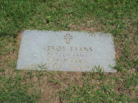 EVANS (VETERAN WWI), LEROY - Pulaski County, Arkansas | LEROY EVANS (VETERAN WWI) - Arkansas Gravestone Photos