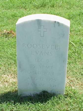 EVANS (VETERAN WWII), ROOSEVELT - Pulaski County, Arkansas | ROOSEVELT EVANS (VETERAN WWII) - Arkansas Gravestone Photos