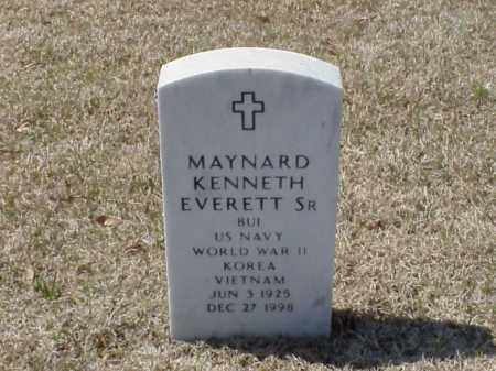 EVERETT, SR (VETERAN 3 WARS), MAYNARD KENNETH - Pulaski County, Arkansas | MAYNARD KENNETH EVERETT, SR (VETERAN 3 WARS) - Arkansas Gravestone Photos