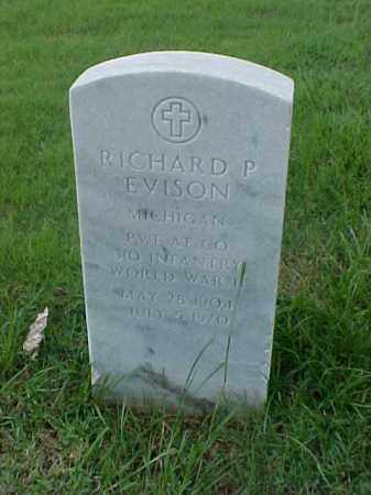 EVISON (VETERAN WWII), RICHARD P - Pulaski County, Arkansas | RICHARD P EVISON (VETERAN WWII) - Arkansas Gravestone Photos
