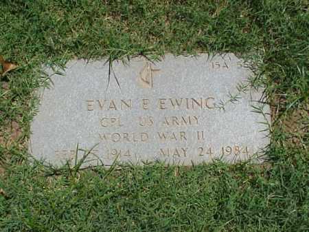 EWING (VETERAN WWII), EVAN E - Pulaski County, Arkansas   EVAN E EWING (VETERAN WWII) - Arkansas Gravestone Photos