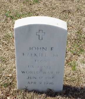 EZEKIEL, JR (VETERAN WWII), JOHN E - Pulaski County, Arkansas | JOHN E EZEKIEL, JR (VETERAN WWII) - Arkansas Gravestone Photos
