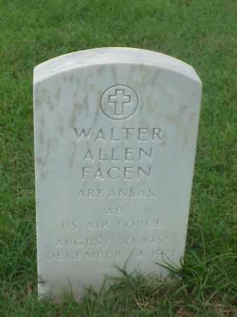 FACEN (VETERAN), WALTER ALLEN - Pulaski County, Arkansas | WALTER ALLEN FACEN (VETERAN) - Arkansas Gravestone Photos