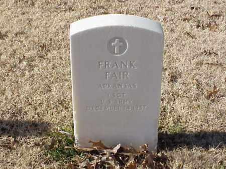 FAIR (VETERAN), FRANK - Pulaski County, Arkansas | FRANK FAIR (VETERAN) - Arkansas Gravestone Photos