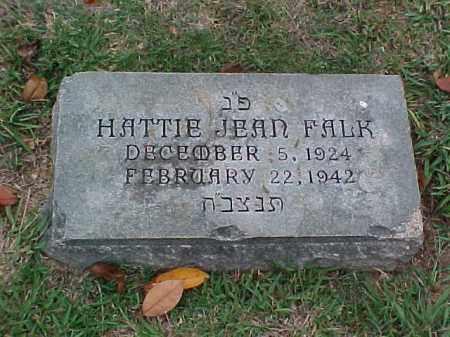 FALK, HATTIE JEAN - Pulaski County, Arkansas | HATTIE JEAN FALK - Arkansas Gravestone Photos