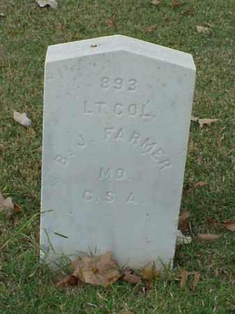 FARMER (VETERAN CSA), B J - Pulaski County, Arkansas | B J FARMER (VETERAN CSA) - Arkansas Gravestone Photos