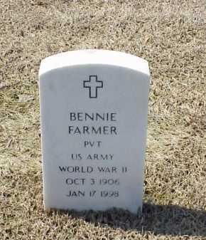 FARMER (VETERAN WWII), BENNIE - Pulaski County, Arkansas   BENNIE FARMER (VETERAN WWII) - Arkansas Gravestone Photos