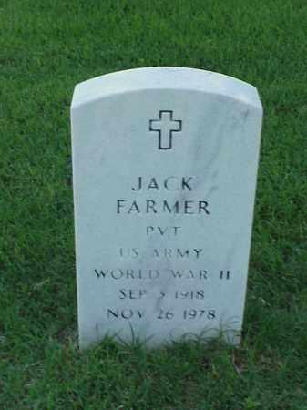 FARMER (VETERAN WWII), JACK - Pulaski County, Arkansas | JACK FARMER (VETERAN WWII) - Arkansas Gravestone Photos