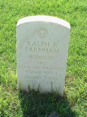 FARNHAM (VETERAN WWI), RALPH R - Pulaski County, Arkansas   RALPH R FARNHAM (VETERAN WWI) - Arkansas Gravestone Photos