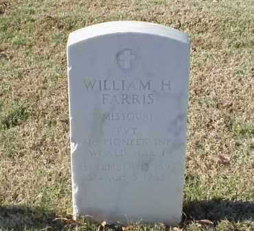 FARRIS (VETERAN WWI), WILLIAM H - Pulaski County, Arkansas | WILLIAM H FARRIS (VETERAN WWI) - Arkansas Gravestone Photos