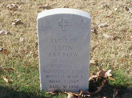 FARROW (VETERAN WWI), AUDREY LEON - Pulaski County, Arkansas | AUDREY LEON FARROW (VETERAN WWI) - Arkansas Gravestone Photos