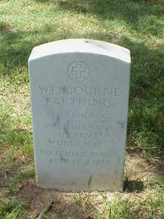 FARTHING (VETERAN WWI), WELBOURNE - Pulaski County, Arkansas | WELBOURNE FARTHING (VETERAN WWI) - Arkansas Gravestone Photos