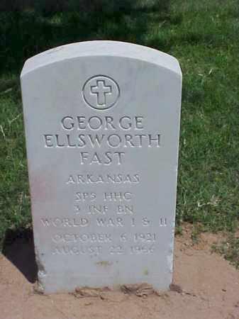 FAST (VETERAN 2 WARS), GEORGE ELLSWORTH - Pulaski County, Arkansas | GEORGE ELLSWORTH FAST (VETERAN 2 WARS) - Arkansas Gravestone Photos