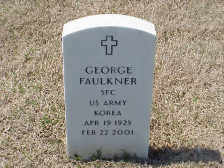 FAULKNER (VETERAN KOR), GEORGE - Pulaski County, Arkansas   GEORGE FAULKNER (VETERAN KOR) - Arkansas Gravestone Photos