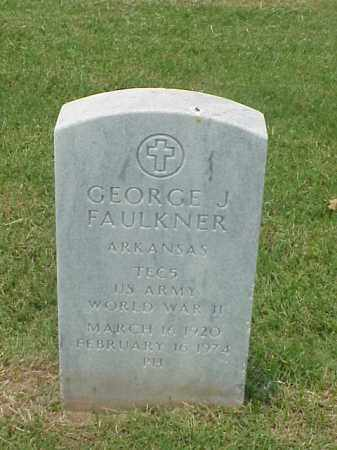FAULKNER (VETERAN WWII), GEORGE J - Pulaski County, Arkansas | GEORGE J FAULKNER (VETERAN WWII) - Arkansas Gravestone Photos
