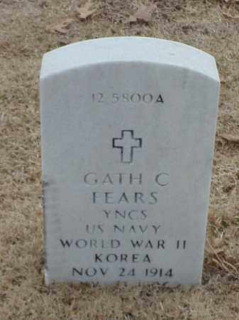 FEARS (VETERAN 2 WARS), GATH C - Pulaski County, Arkansas | GATH C FEARS (VETERAN 2 WARS) - Arkansas Gravestone Photos