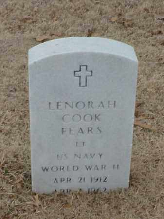 COOK FEARS (VETERAN WWII), LENORAH - Pulaski County, Arkansas | LENORAH COOK FEARS (VETERAN WWII) - Arkansas Gravestone Photos