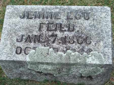 FEILD, JENNIE LOU - Pulaski County, Arkansas   JENNIE LOU FEILD - Arkansas Gravestone Photos