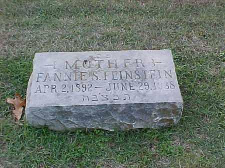 FEINSTEIN, FANNIE S - Pulaski County, Arkansas | FANNIE S FEINSTEIN - Arkansas Gravestone Photos