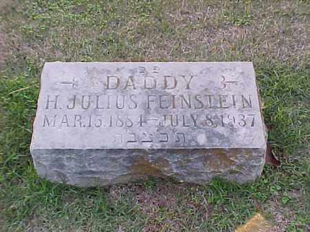 FEINSTEIN, H JULIUS - Pulaski County, Arkansas   H JULIUS FEINSTEIN - Arkansas Gravestone Photos