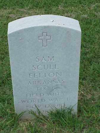 FELTON (VETERAN WWII), SAM SCULL - Pulaski County, Arkansas | SAM SCULL FELTON (VETERAN WWII) - Arkansas Gravestone Photos