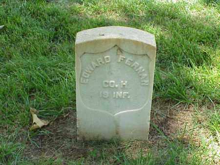 FERNAN (VETERAN UNION), EDWARD - Pulaski County, Arkansas | EDWARD FERNAN (VETERAN UNION) - Arkansas Gravestone Photos