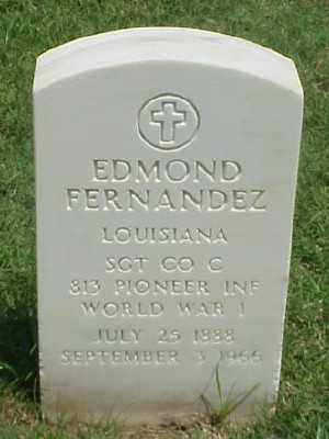 FERNANDEZ (VETERAN WWI), EDMOND - Pulaski County, Arkansas   EDMOND FERNANDEZ (VETERAN WWI) - Arkansas Gravestone Photos