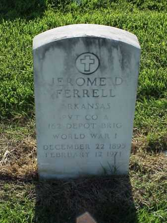 FERRELL (VETERAN WWI), JEROME D - Pulaski County, Arkansas | JEROME D FERRELL (VETERAN WWI) - Arkansas Gravestone Photos