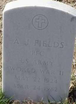FIELDS  (VETERAN WWII), A J - Pulaski County, Arkansas   A J FIELDS  (VETERAN WWII) - Arkansas Gravestone Photos
