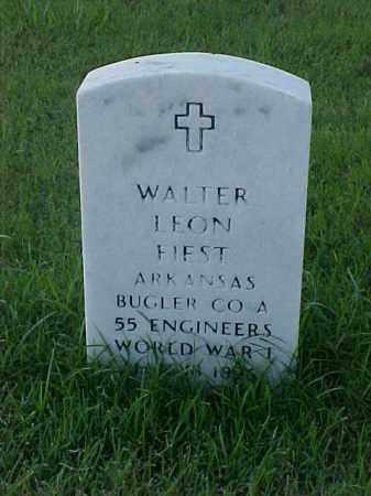 FIEST (VETERAN WWI), WALTER LEON - Pulaski County, Arkansas   WALTER LEON FIEST (VETERAN WWI) - Arkansas Gravestone Photos
