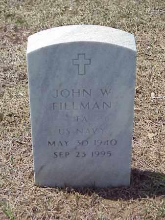 FILLMAN (VETERAN), JOHN W - Pulaski County, Arkansas   JOHN W FILLMAN (VETERAN) - Arkansas Gravestone Photos
