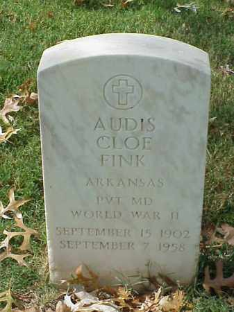 FINK (VETERAN WWII), AUDIS CLOE - Pulaski County, Arkansas | AUDIS CLOE FINK (VETERAN WWII) - Arkansas Gravestone Photos